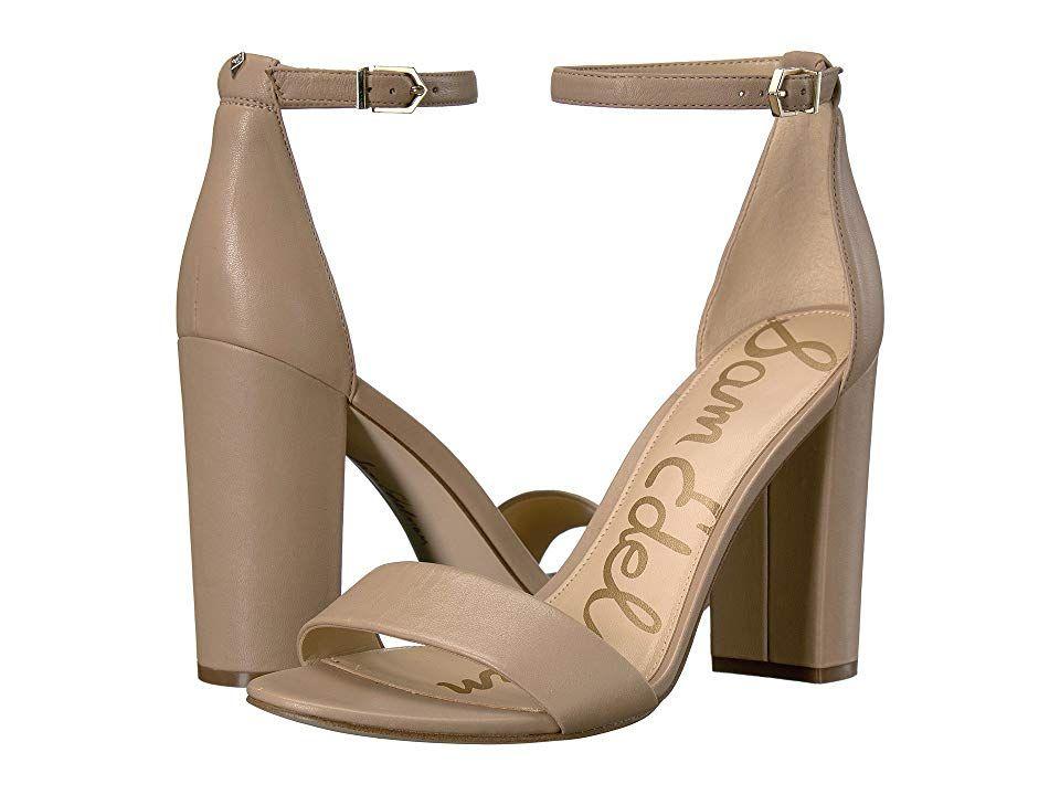 d360117450a Sam Edelman Yaro Ankle Strap Sandal Heel (Classic Nude Leather) Women s  Dress Sandals.