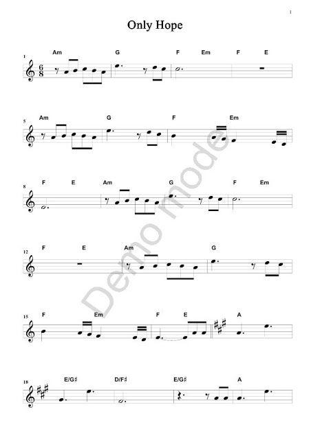 O Blog Dos Violinistas Mandy Moore Only Hope Partituras Violino
