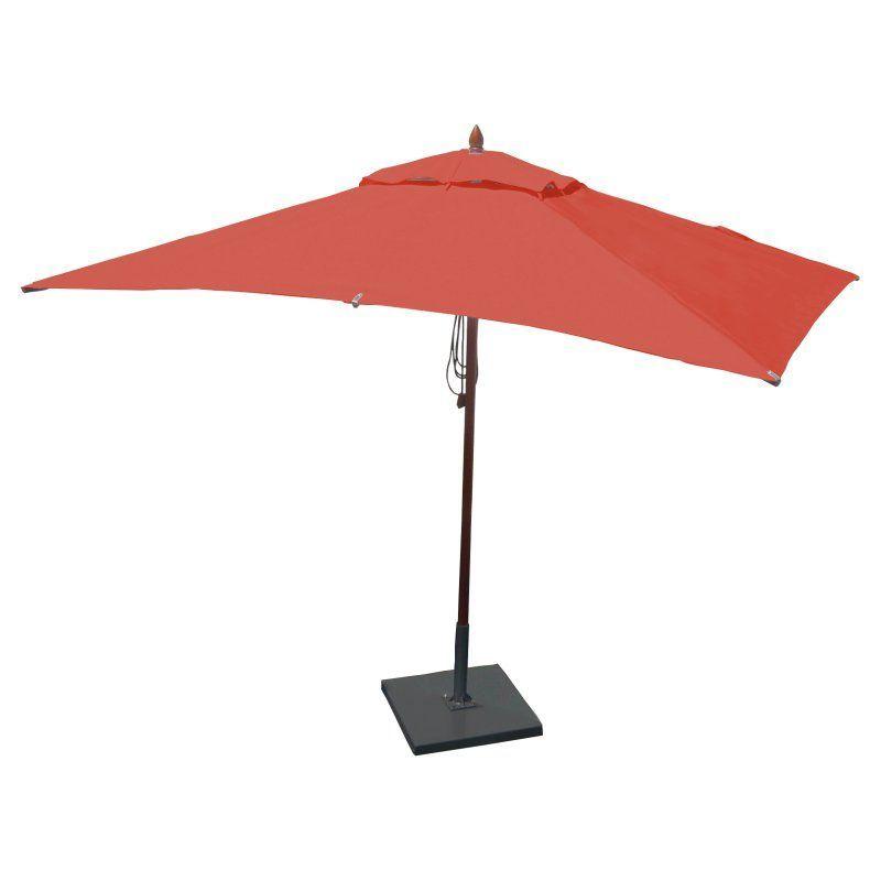 African Mahogany Rectangular Patio Umbrella Jockey Red   RC1065QS2210