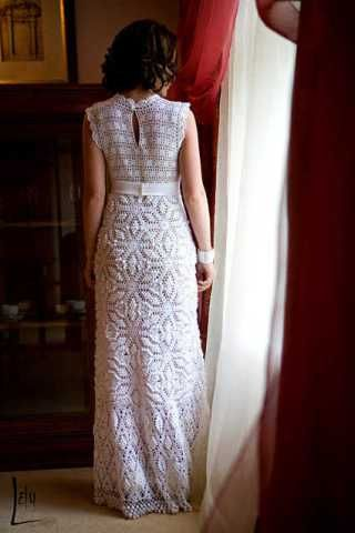 2e1679349 Inspirações: Vestido de Noiva de Crochê .   ‼️vestidos de novia ...
