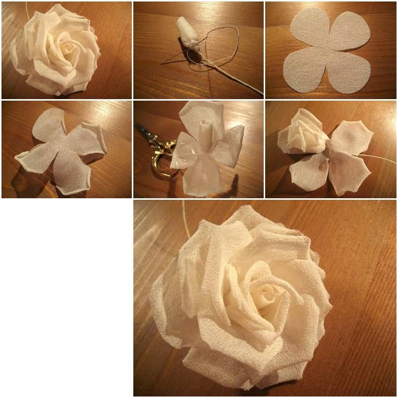 how to make modular silk rose step by step diy tutorial