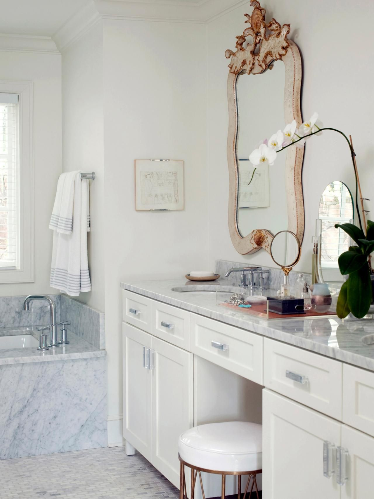 Makeup vanity dressing table bathroom ideas design with vanities tile cabinets sinks hgtv