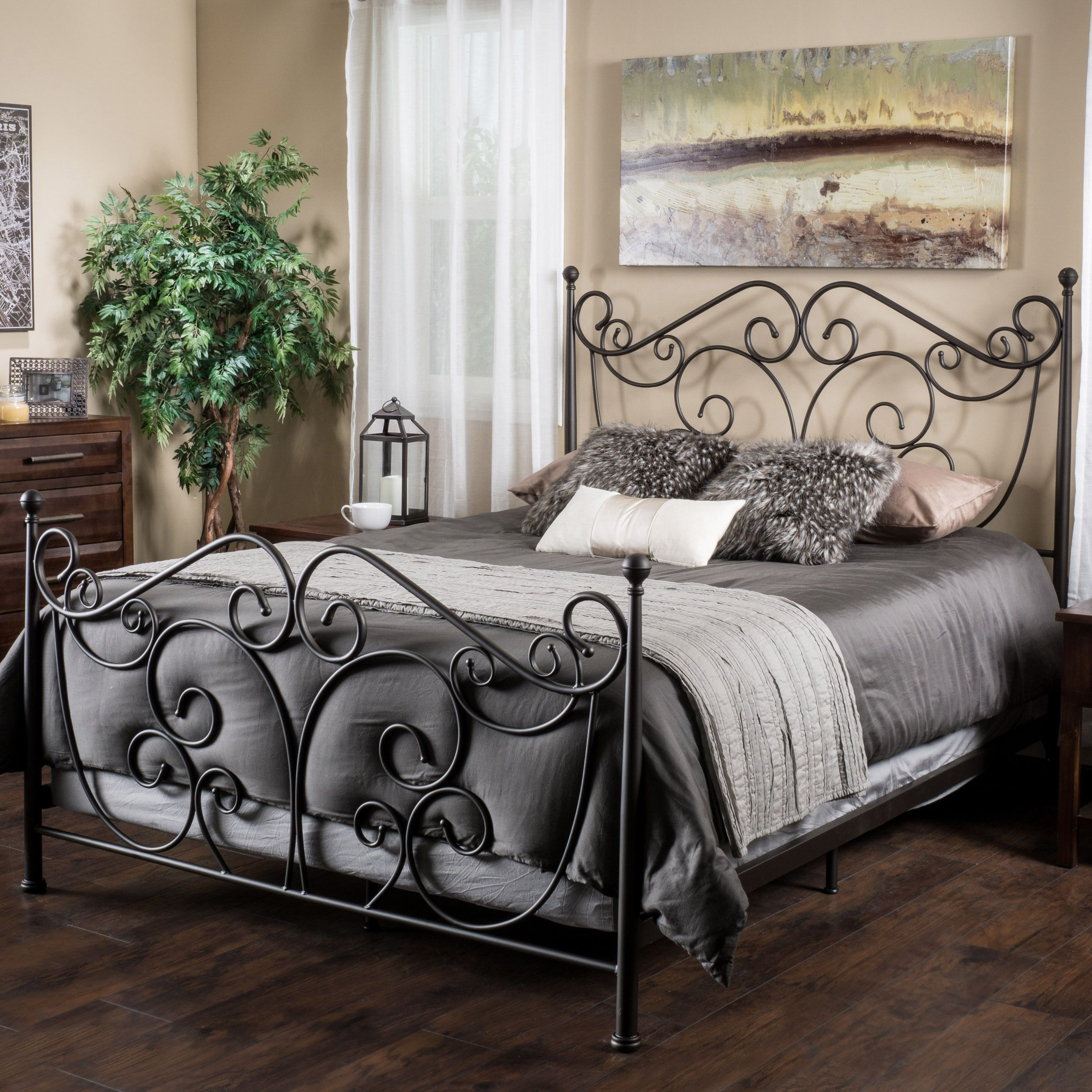 Camellia King Bed by Christopher Knight Home (Dark Bronze), Brown ...