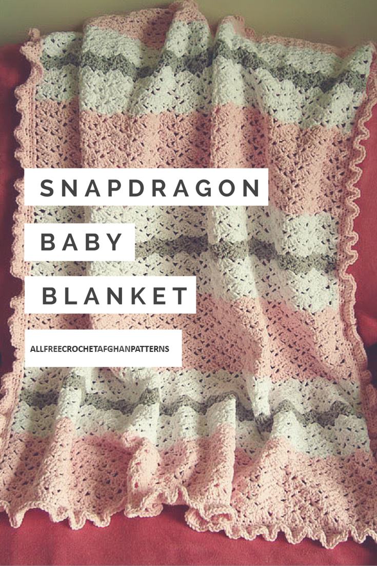 The Snapdragon Baby Blanket is absolutely stunning. This crochet ...