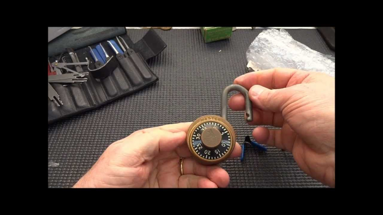 how to pick a master lock combination