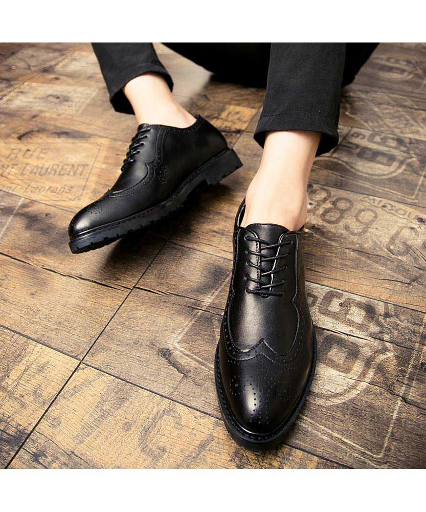 Black Brogue Leather Oxford Dress Shoe 2067 In 2021 Dress Shoes Men Black Brogues Oxford Dress Shoe [ 1000 x 833 Pixel ]