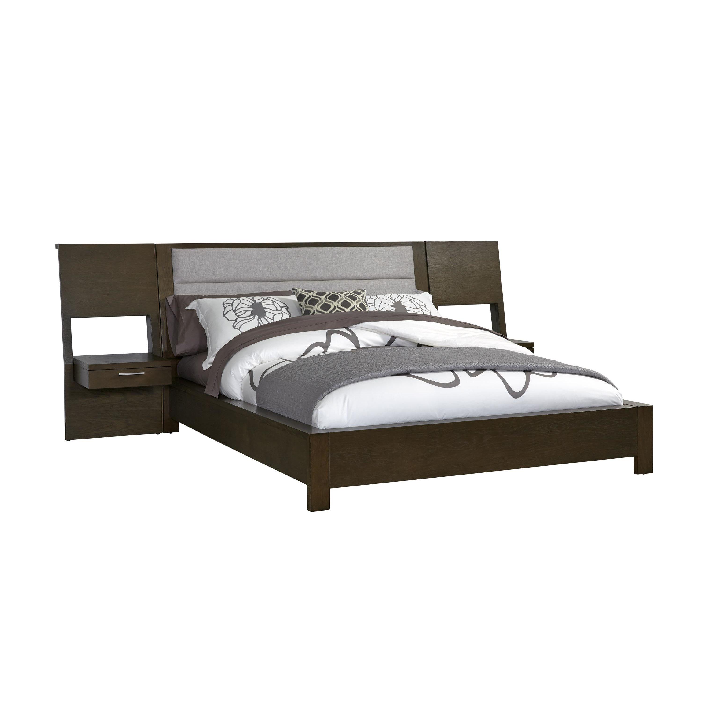 bed w/ nightstands option Upholstered platform bed