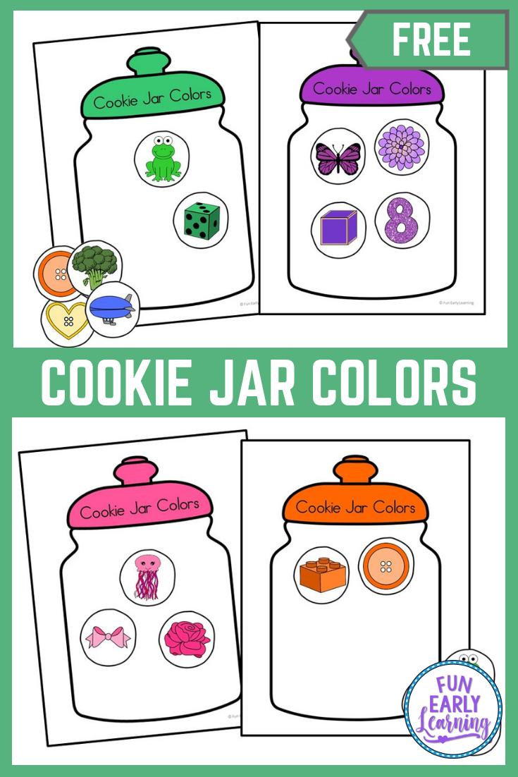 Cookie Jar Colors Activity Learning Colors Preschool Preschool