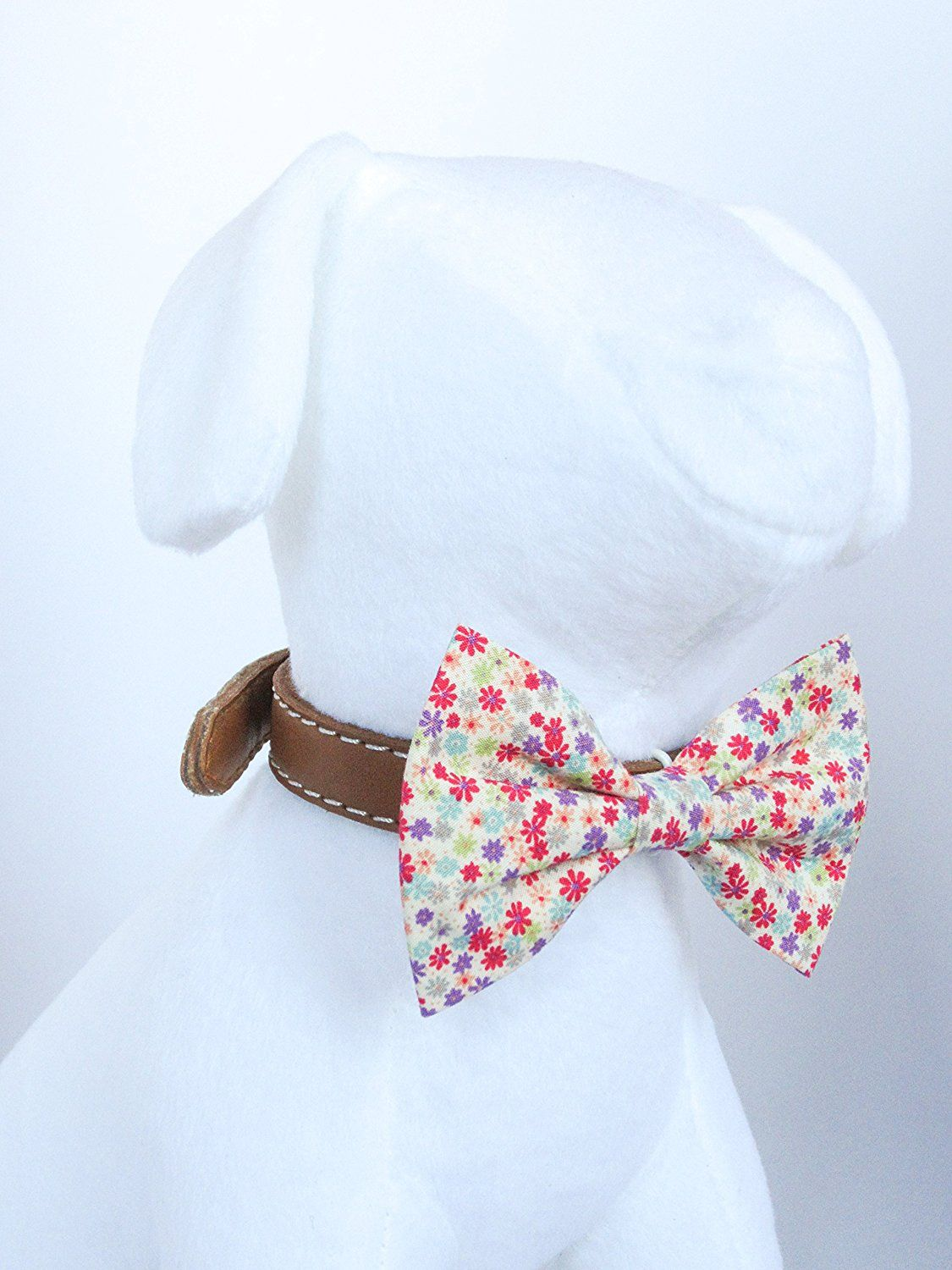 Flower Garden - Hand Stitched Dog Cat Pet Bow Tie Bowtie Collar ...