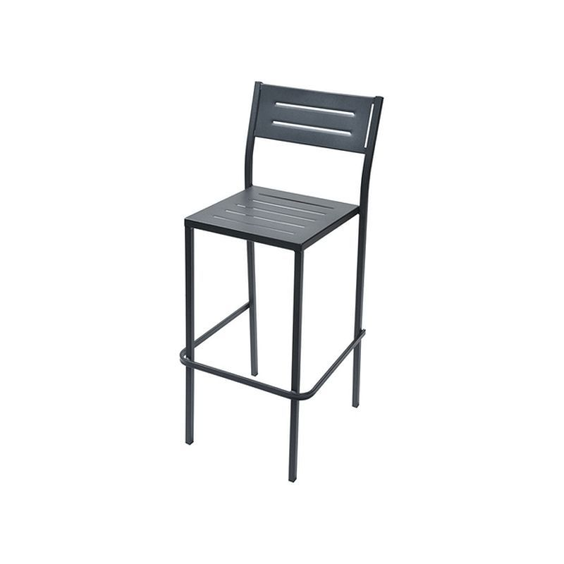 Tabouret De Bar Empilable Rd Italia Dorio 75 Anthracite Exterieur Relevable Outdoor Chairs Stackable Chairs Outdoor Decor