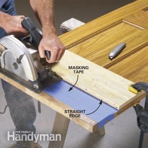 How To Cut Off Wood Door Bottoms Wood Diy Woodworking