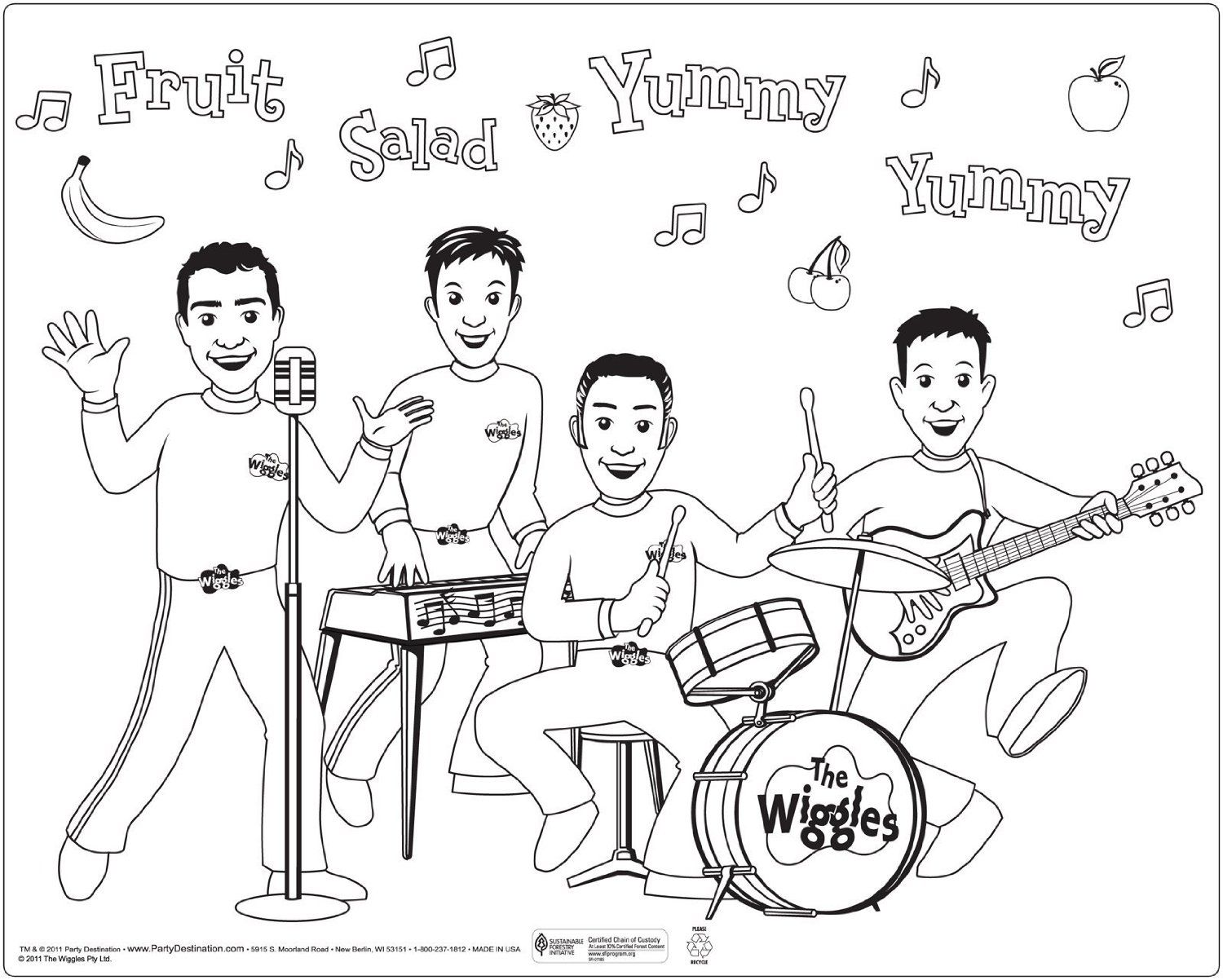 The Wiggles Coloring Pages Coloring Pages Pictures Imagixs