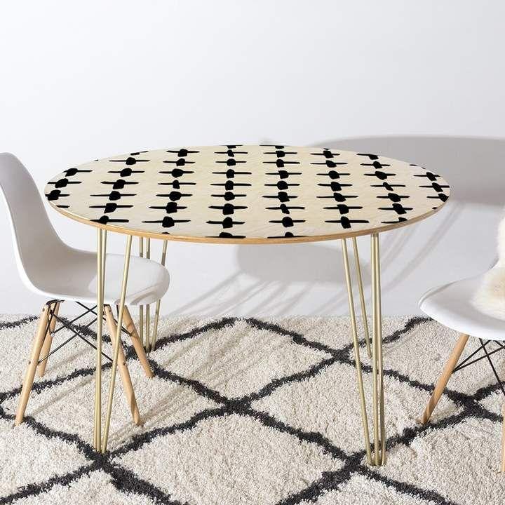 Brayden Studio Fender Dining Table Furniture Dining Table Metal Dining Table