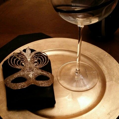 My new Gold napkin rings. ...