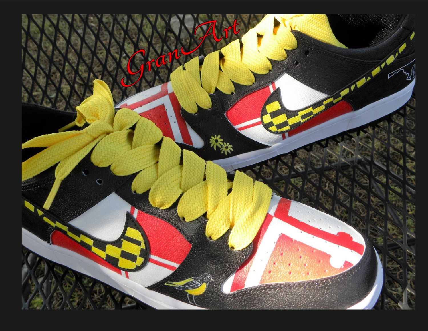 watch 11971 b28b9 Nike Custom Shoes MD, Nike SB Painted Shoes, Nike Shoes, Custom, Hand  Painted Shoes, Nike Custom Shoes, Maryland State Shoes, Nike SB Shoes by  GranArt on ...