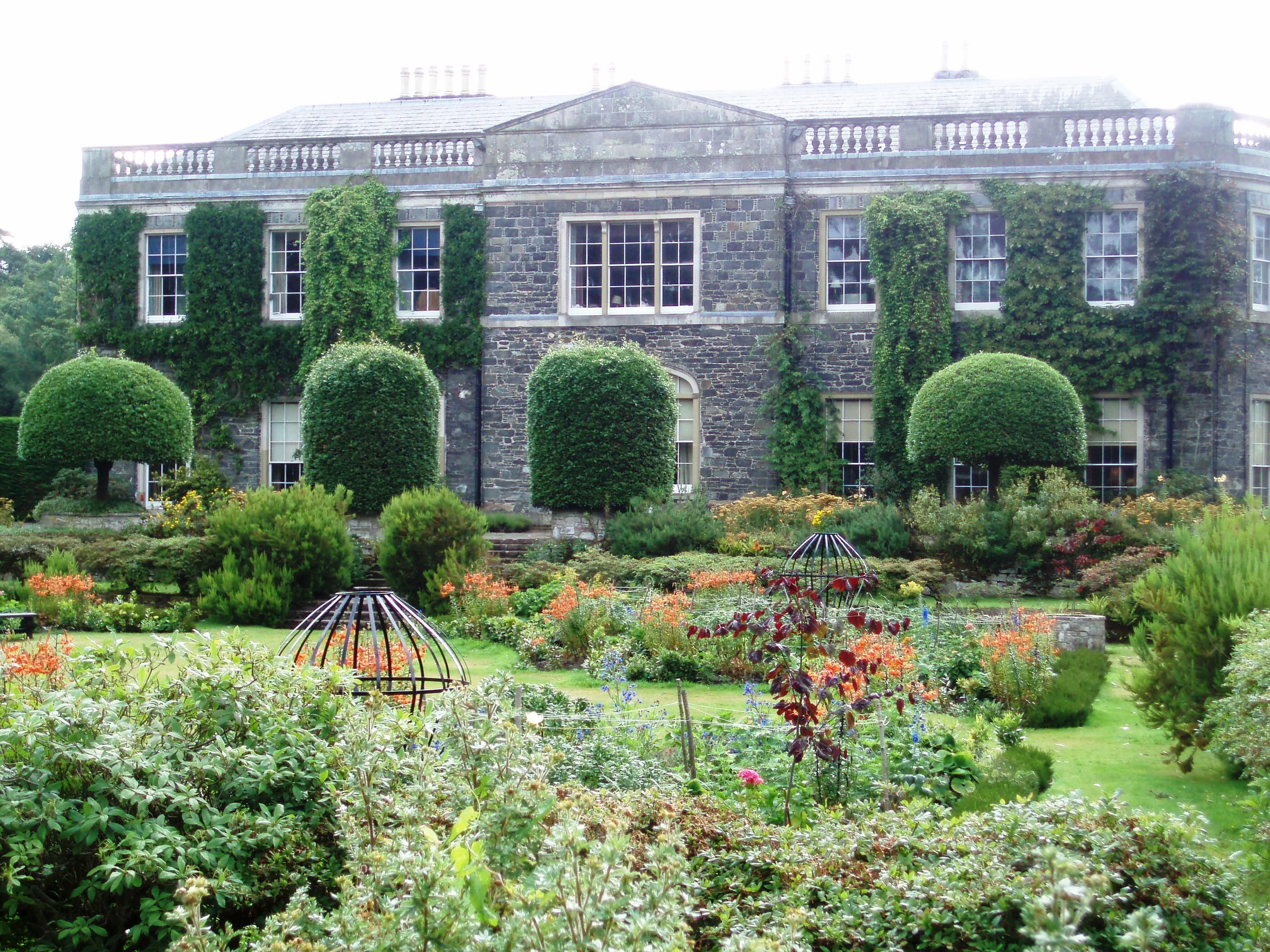 View from front of Mount Stewart House faces the gardens ...