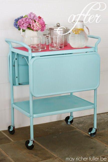 May Richer Fuller Be: Vintage Kitchen Cart Makeover