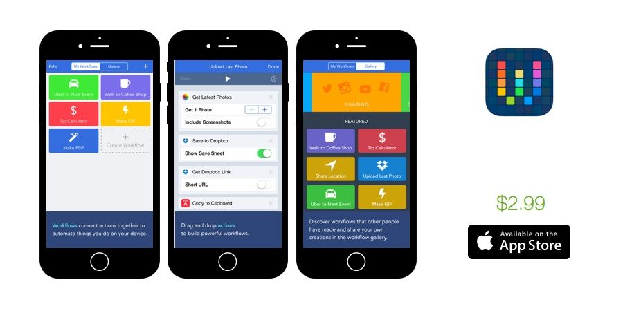 Weekly Apps Tally, IF by IFTTT, Workflow and more