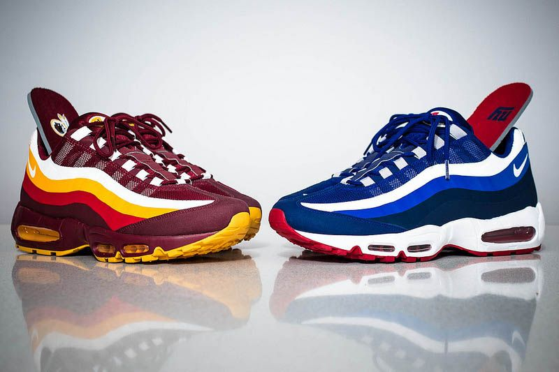 competitive price 9165b e4616 redskins x ny giants x air max x 95 x no sew upper x nfl draft pack