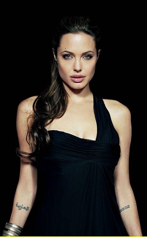 Angelina Jolie The Actress Black White Fashion Angelina Jolie