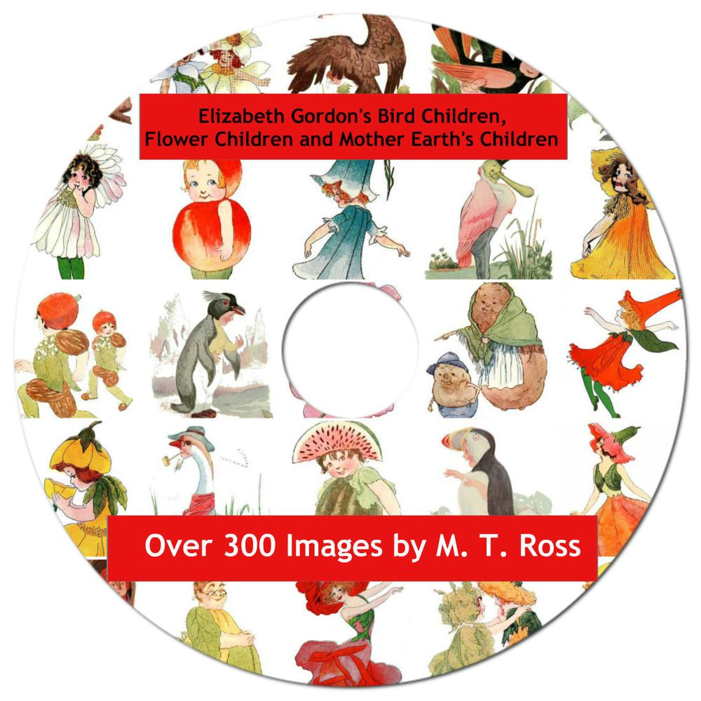 Over 300 Image Collection, Flower Children, Bird Children, Nature's Children  CD