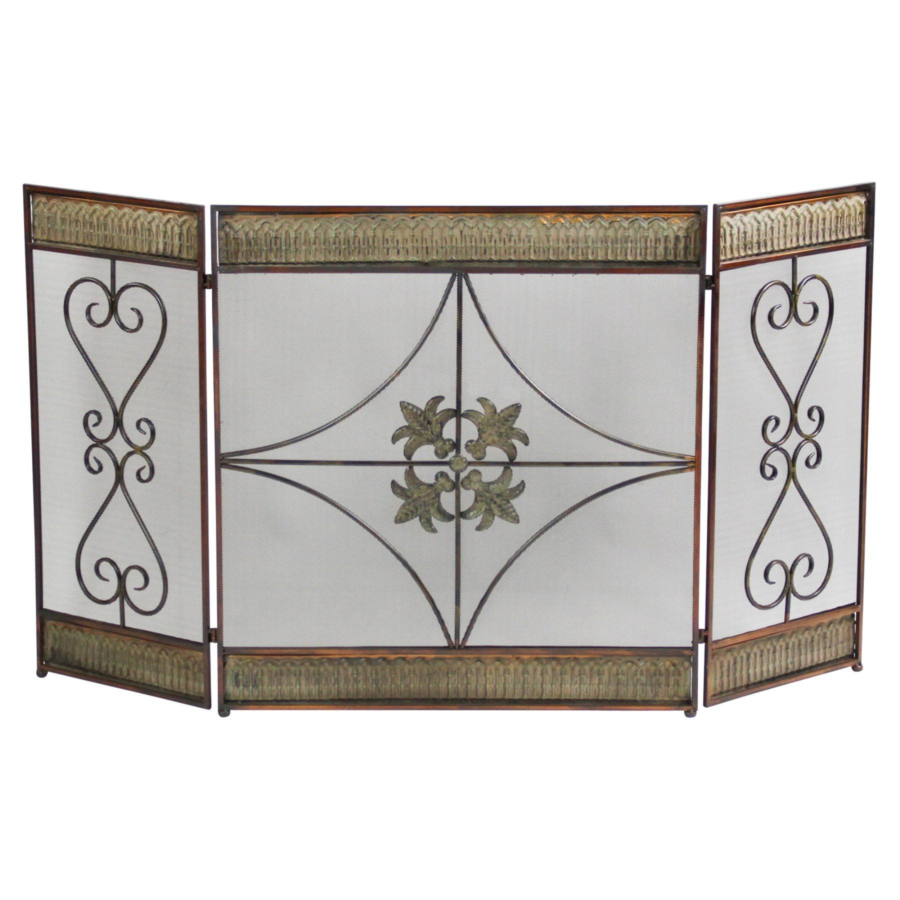 home accents metal fireplace screen 48126