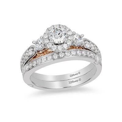 Enchanted Disney Jasmine 1 Ct T W Diamond Three Stone