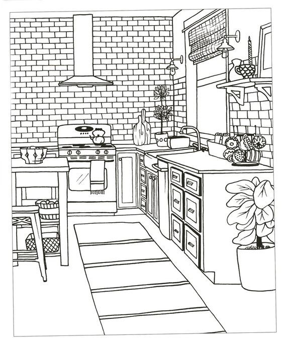 The Inspired Room Coloring Book Creative Spaces To Decorate As You Dream In 2020 House Colouring Pages Abstract Coloring Pages Coloring Books