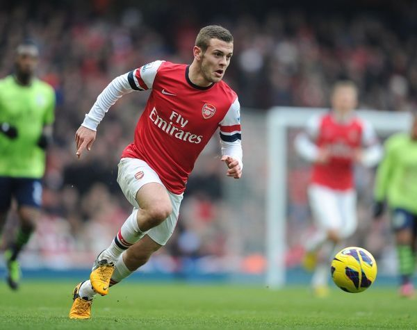 10x8 Inch (25x20cm) Print (other products available) - LONDON, ENGLAND - FEBRUARY 23: Jack Wilshere of Arsenal during the Barclays Premier League match between Arsenal and Aston Villa at Emirates Stadium on February 23, 2013 in London, England. (Photo by Stuart MacFarlane/Arsenal FC via Getty Images) Jack Wilshere - Image supplied by Arsenal Football Club - #MediaStorehouse - 10
