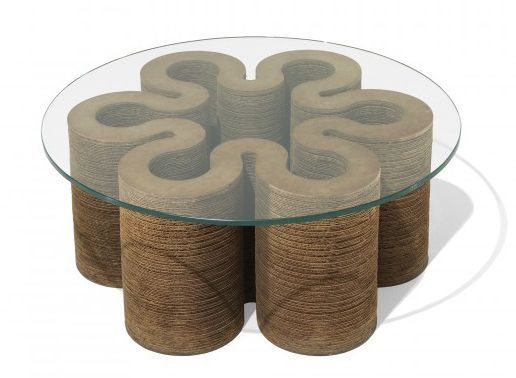 frank gehry cardboard based coffee table wonderful form Надо