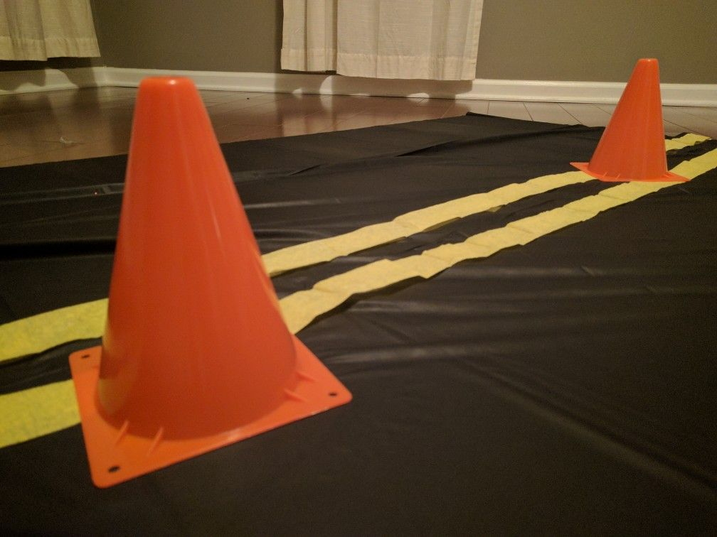 Cars 3 Table Cloth. Black Plastic Table Cloth From The Dollar Tree, With  Orange