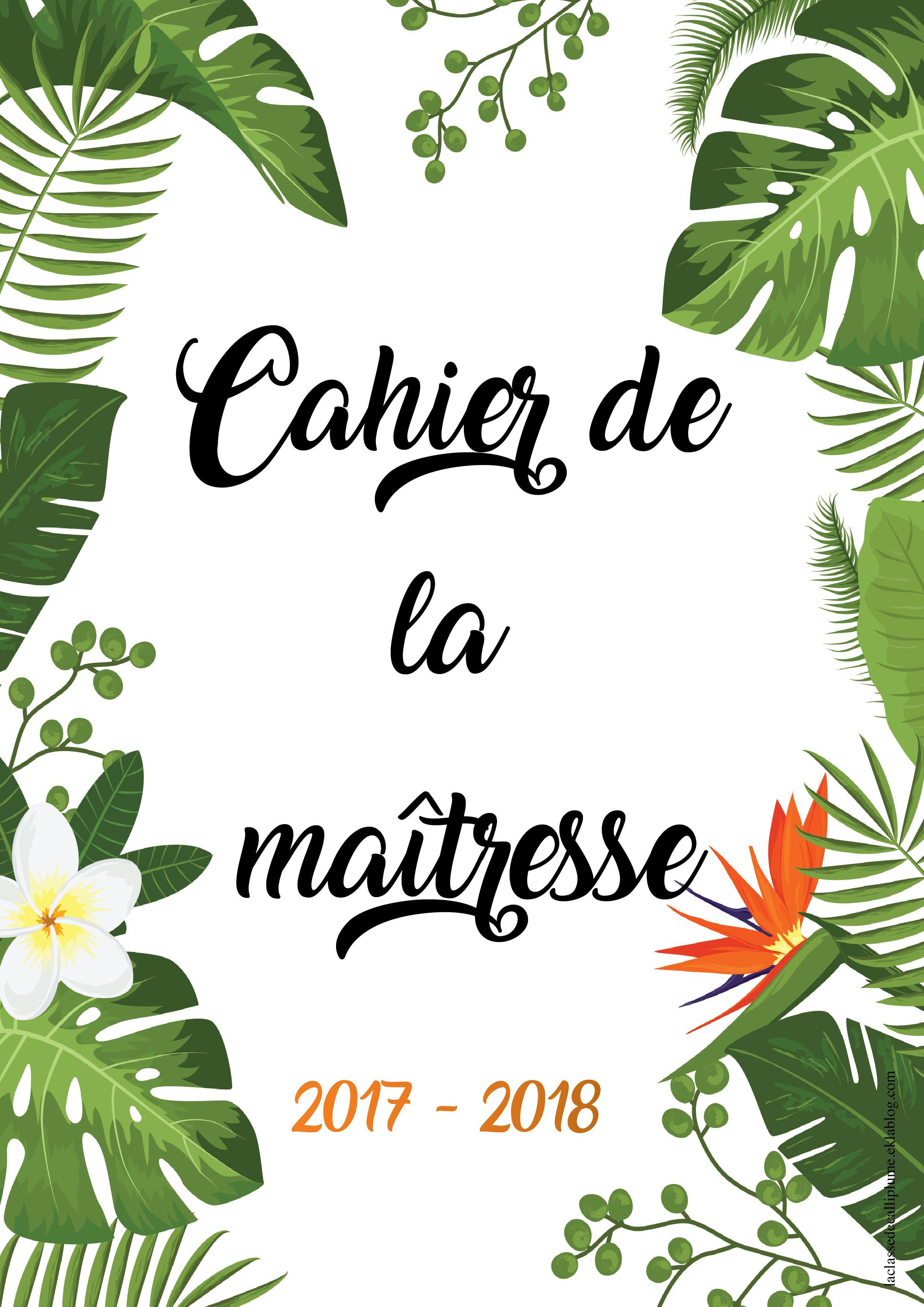 Assez Cahier de la maîtresse / maître 2017 - 2018 - la classe de  UY02