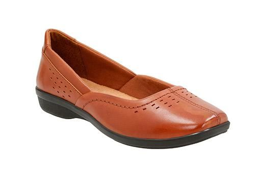 Look what I found on Tan Haydn Shipper Leather Flat