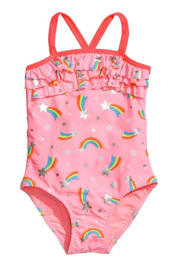 019279cff3 H M Ruffle-trimmed Swimsuit