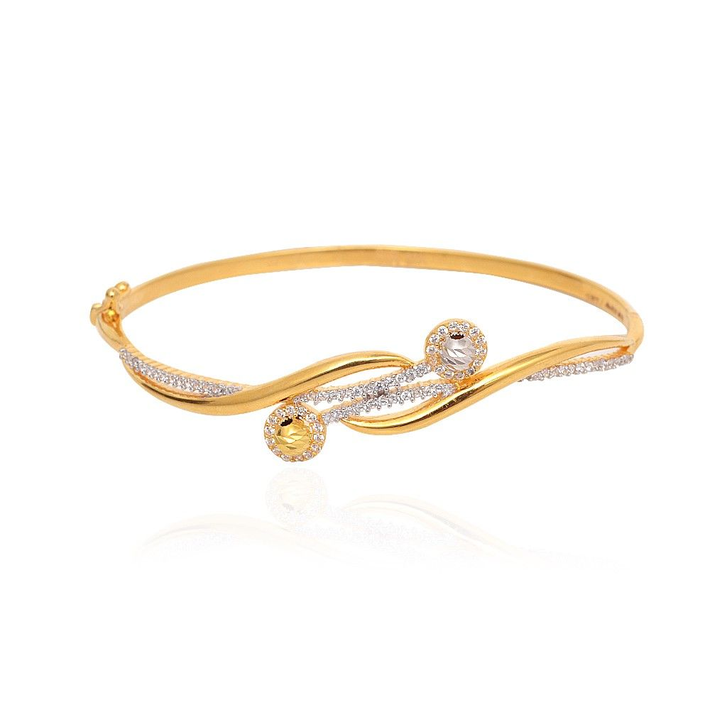 Bangles | Intertwined Gold Bangle Bracelet | GRT Jewellers ...