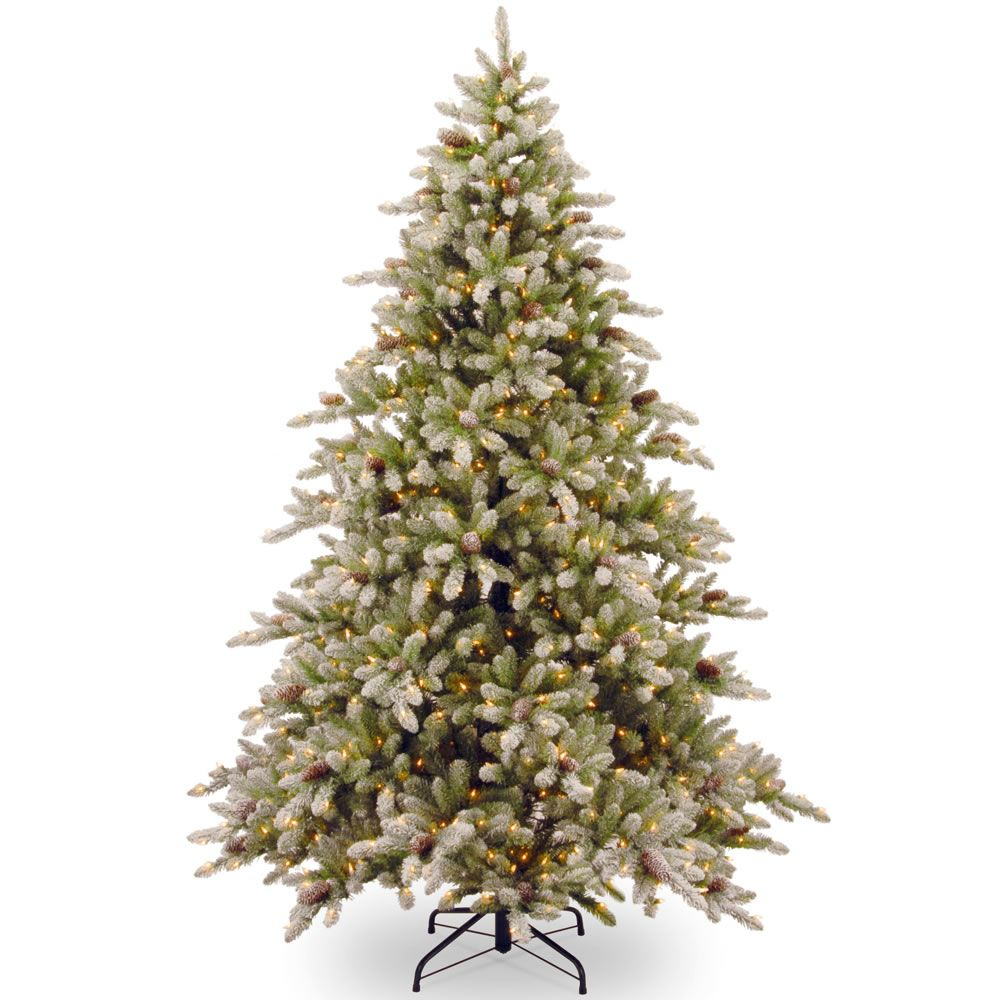 The 7 1/2-Foot Prelit Frost Tipped Prelit Christmas Tree ...