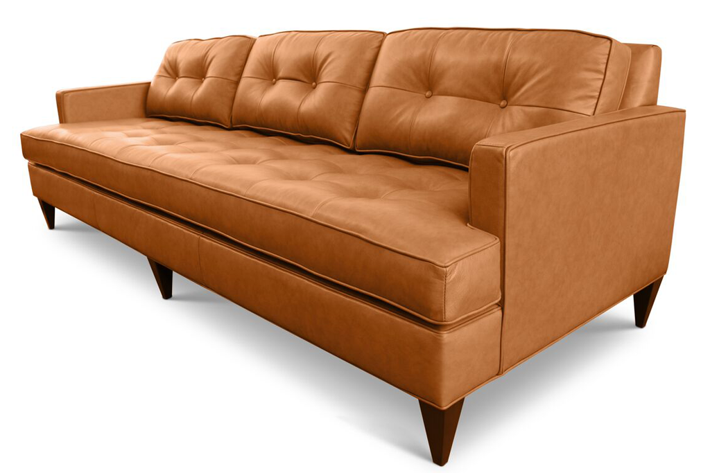 Latest Rodney Custom Affordable Mid Century Modern Leather Sofa from Clad Home For Your Plan - Latest custom leather sofas Simple