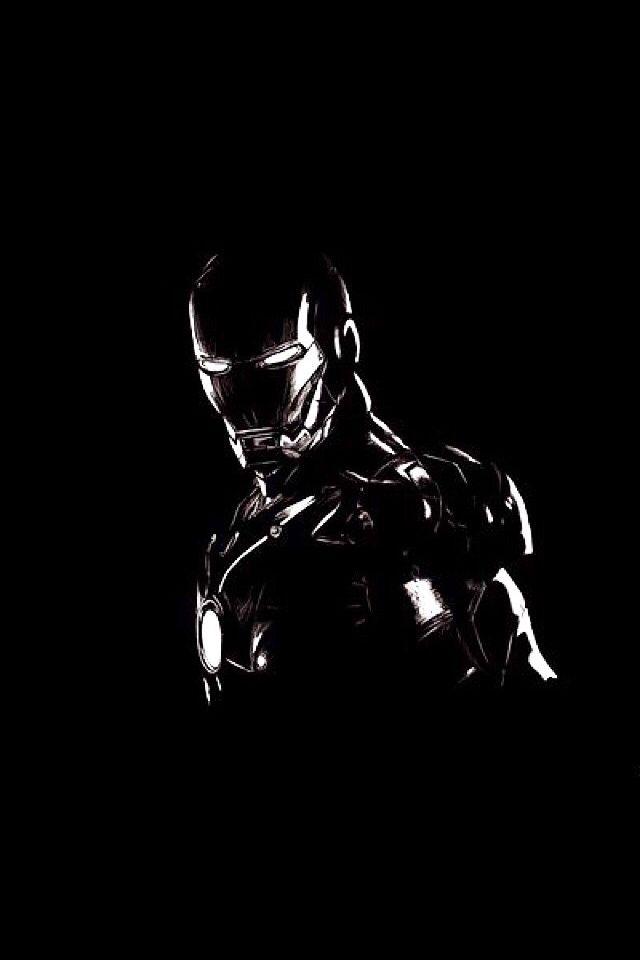 Iron Man Black Paper Drawing Drawing Superheroes Black Paper
