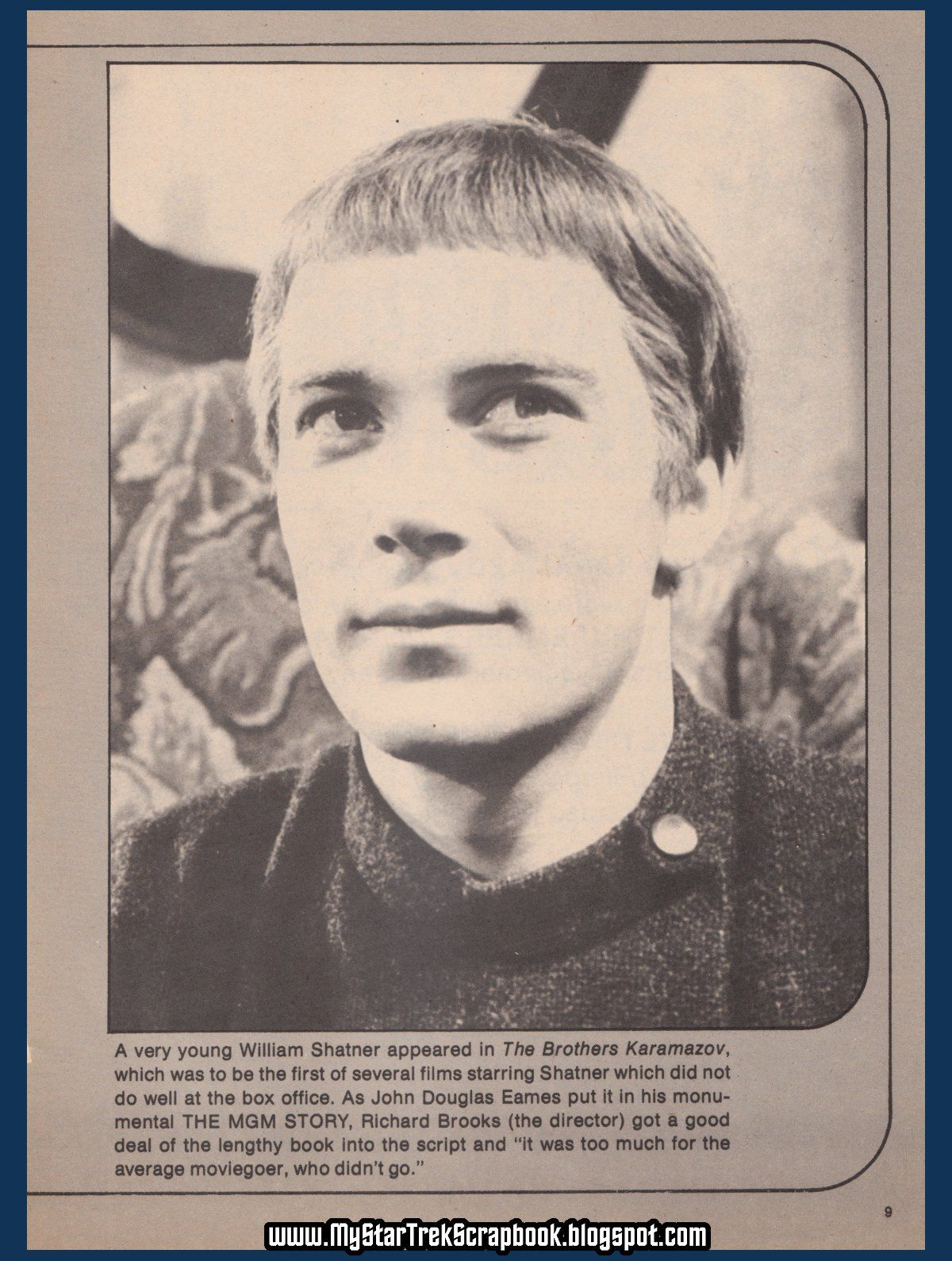 A very young William Shatner in The Brothers Karamazov | Star trek ...