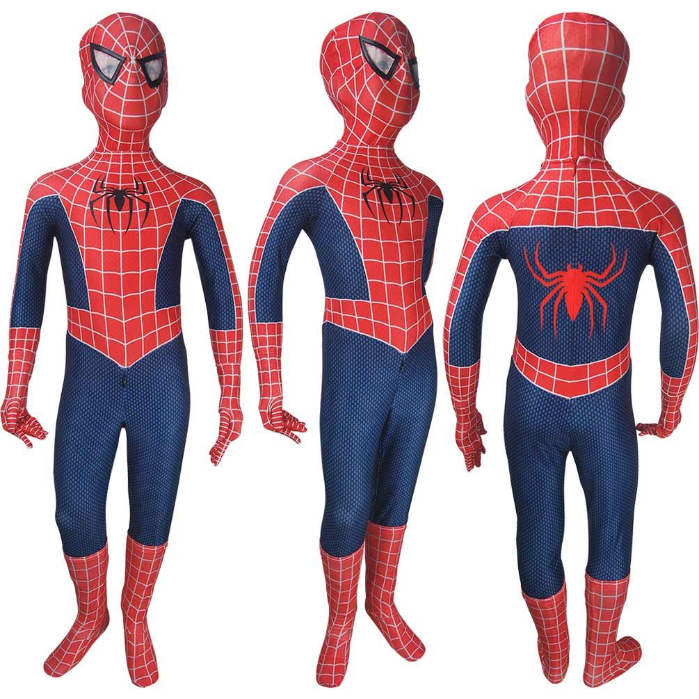 Kids Spider-Man 2018 game jumpsuit cosplay superhero halloween costume Xmas gift