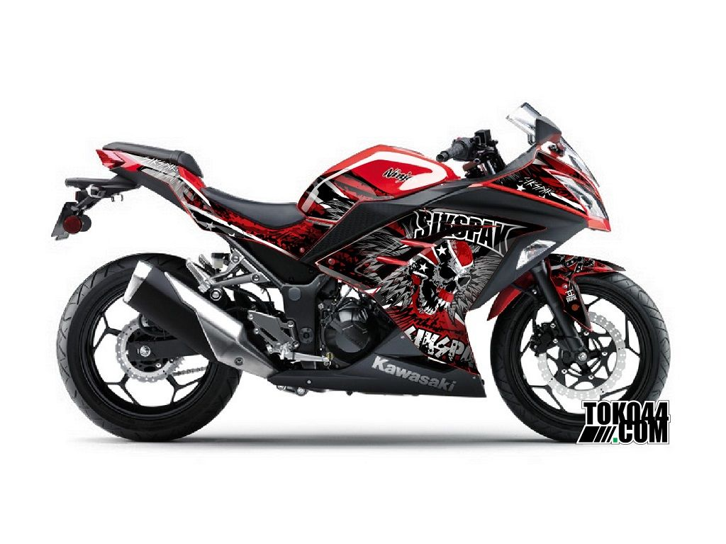 Decal Sticker Ninja 250 FI Merah – Stiker Modifikasi Kawasaki Ninja