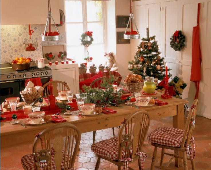 love this old fashion kitchen and the way it is decorated very festive christmas on kitchen xmas decor id=20449