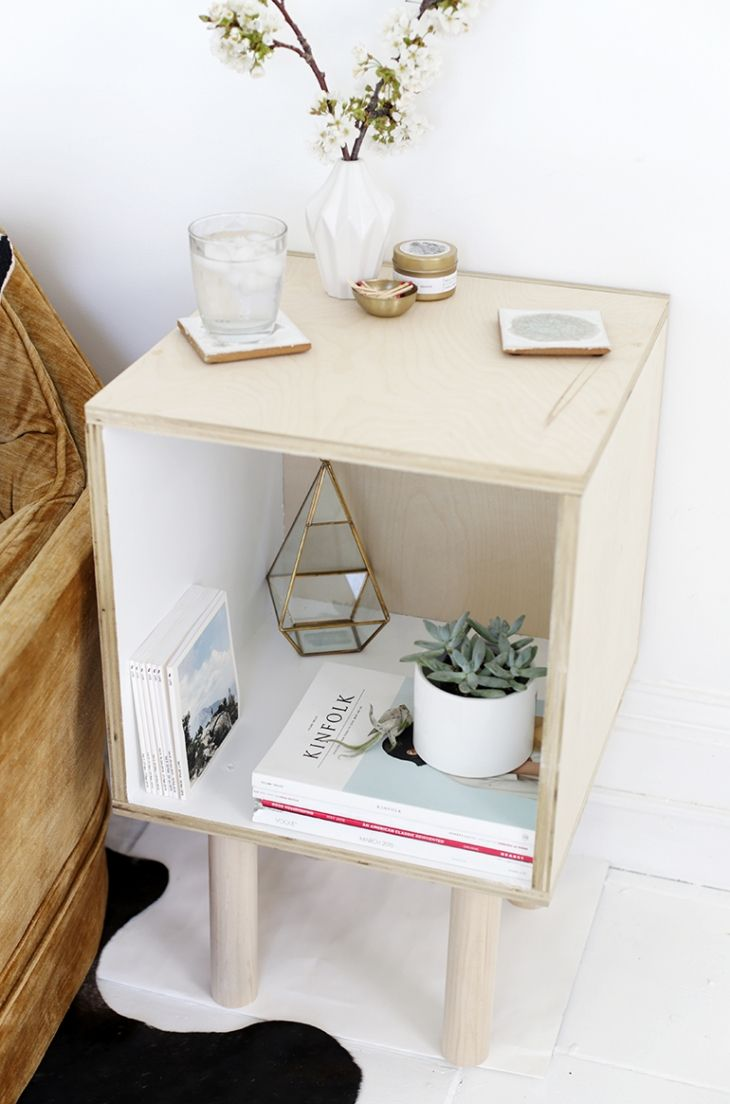 DIY Plywood Side Table
