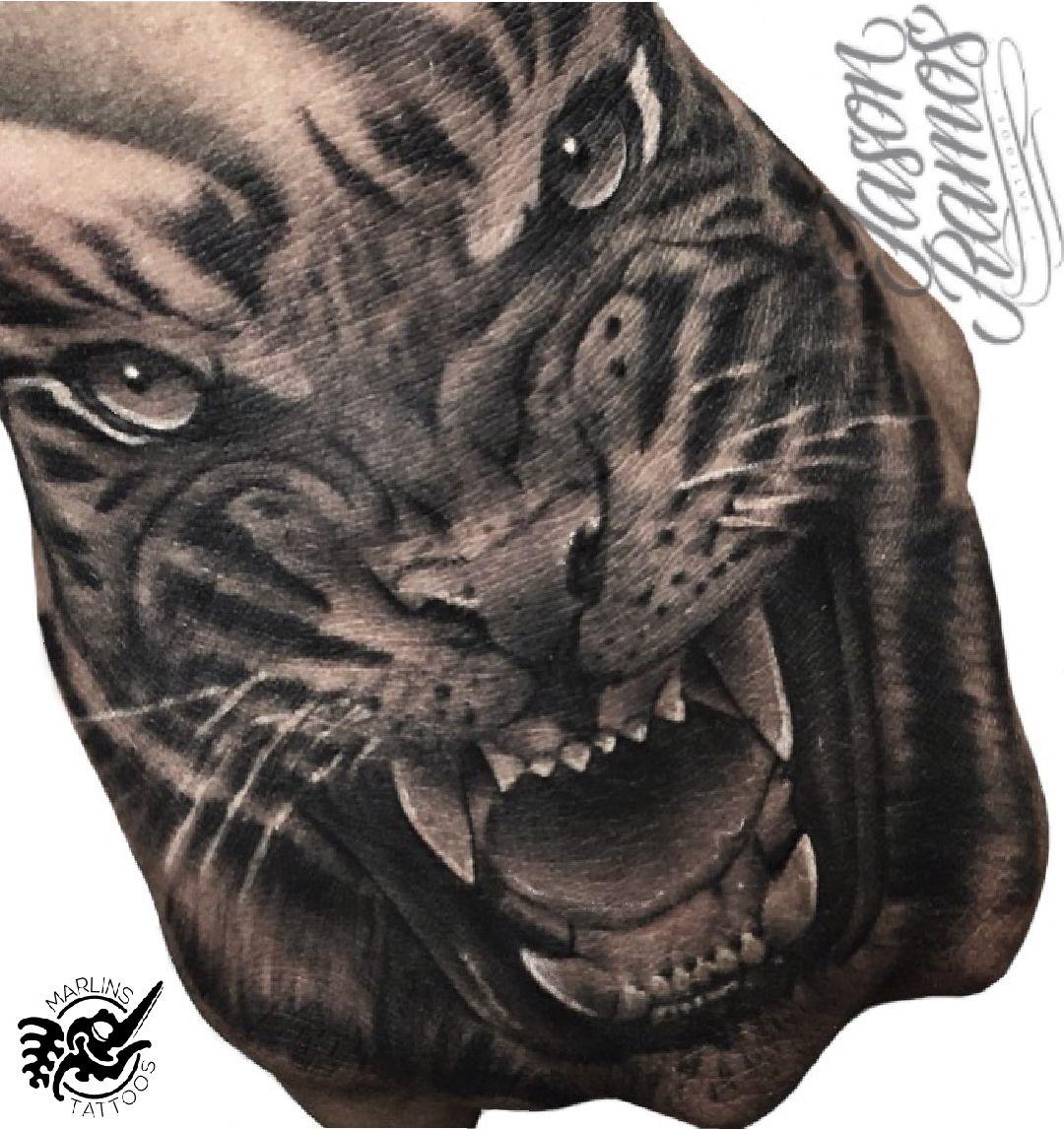 Tiger Hand Tattoo Marlins Tattoos Tiger Hand Tattoo Hand Tattoos Tattoos
