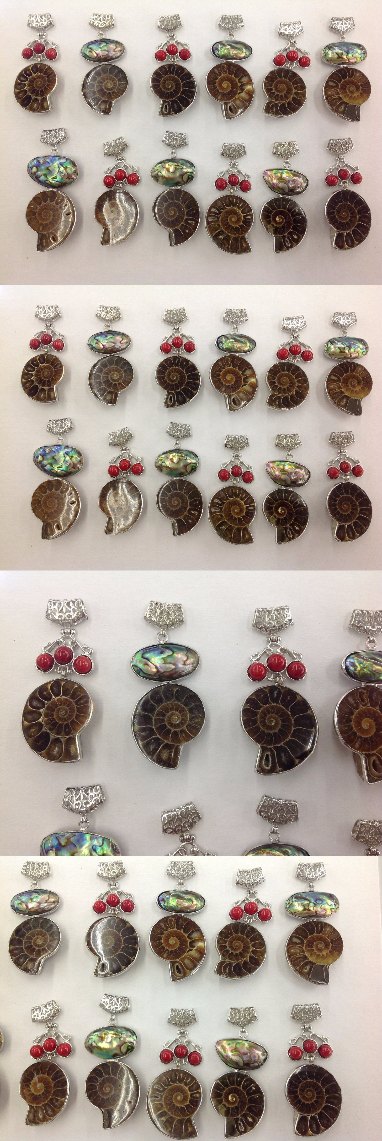 Pendants and lockets 45079 wholesale mixed lot of 12 ammonite pendants and lockets 45079 wholesale mixed lot of 12 ammonite fossil natural abalone shell pendants aloadofball Image collections