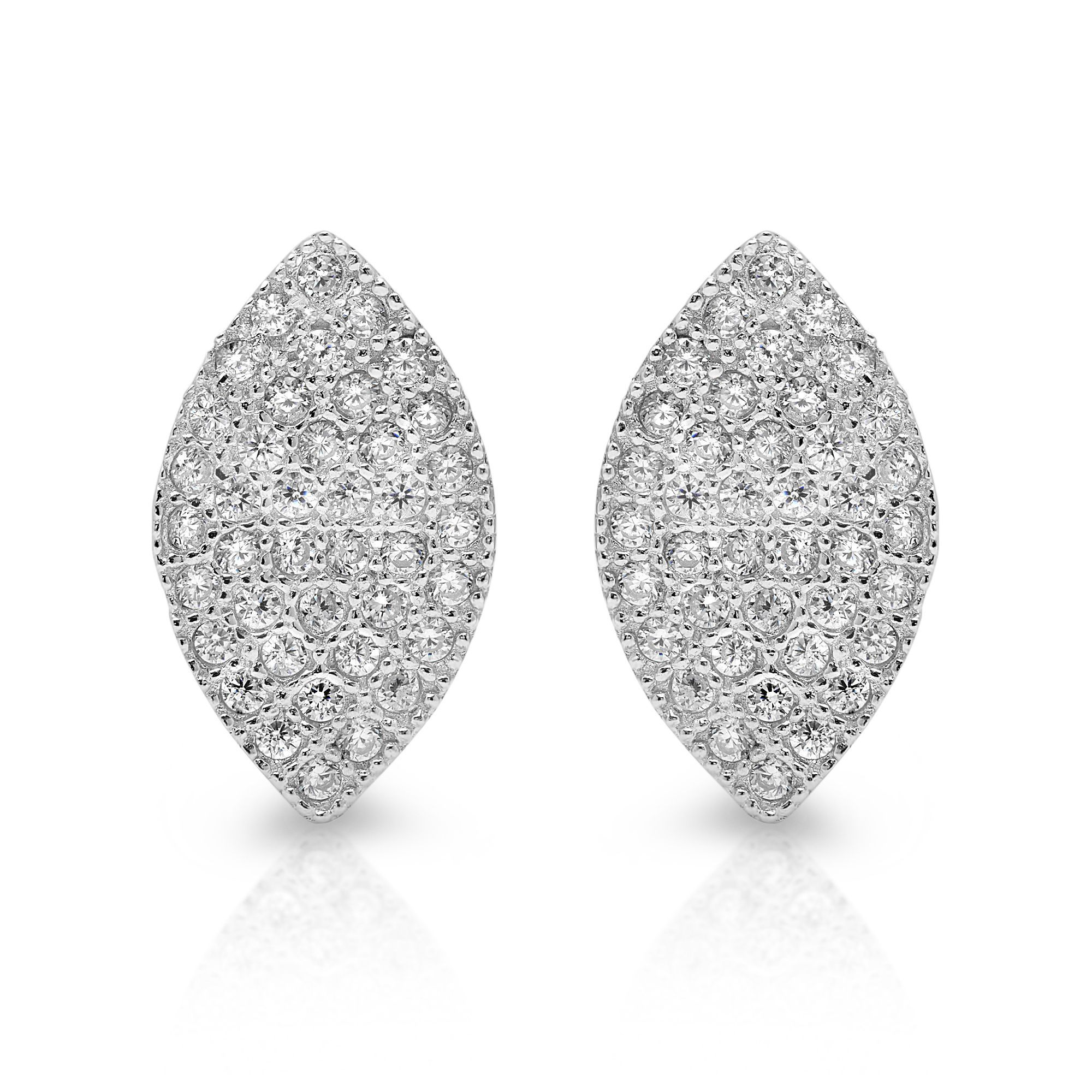 with small pave marquise aq single bar curved stud gemstone diamond products