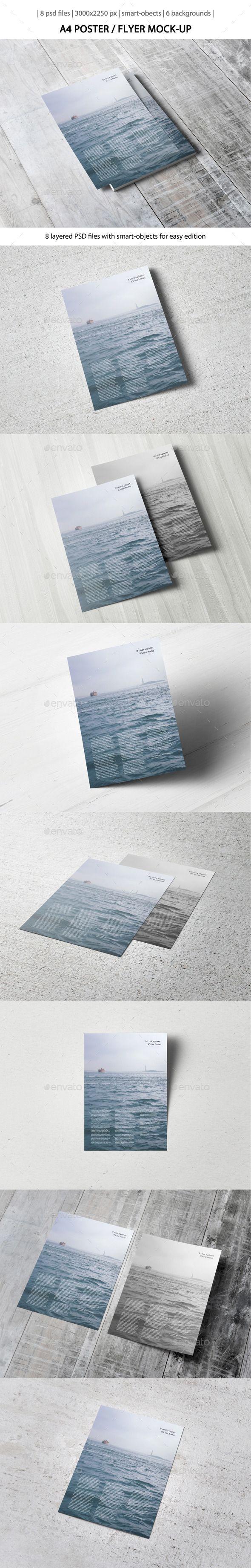 A4 Poster / Flyer MockUp PSD, CS3, 3000x2250