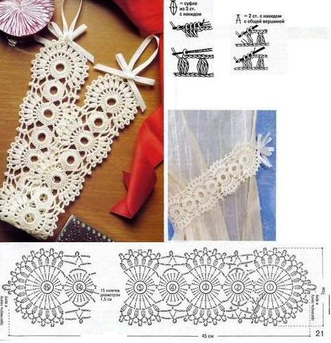 Banda agarra cortinas patron crochet patrones crochet for Cortinas para el hogar