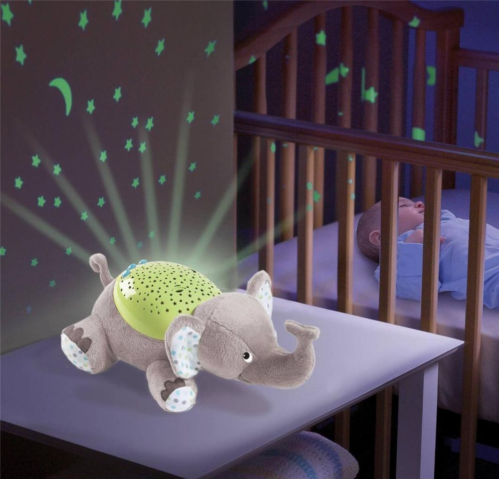 Baby Musical Cot Mobile Night Light Projector Nursery Light Show