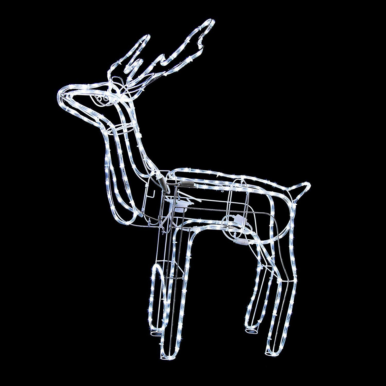 animated reindeer family led rope light christmas decoration buck homedecorinspiration